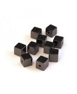 Perles cubes hématite 4mm
