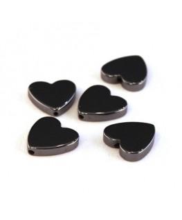 Perles cœur hématite 10mm