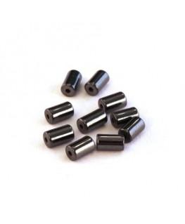 Perles tube hématite 5mm
