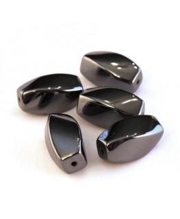 Perles torsadées hématite 16mm