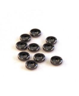 Perles rondelle hématite 5mm