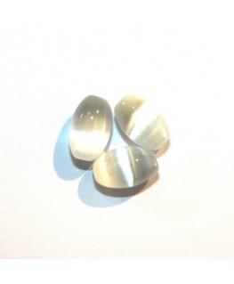 Olive œil de chat 8mm blanc x10