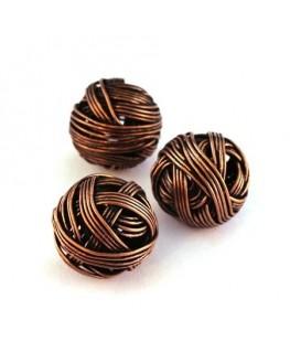 Perle boule en fil cuivre