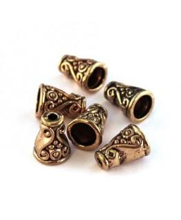 Perles cônes 10mm dorées