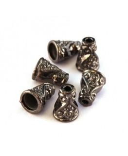 Perles cônes 10mm gunmetal