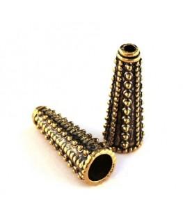 Perle cône 30mm doré vieilli