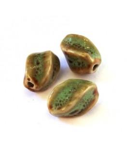 Perle céramique olive