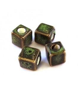 Perle céramique cube