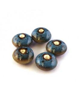 Perle céramique soucoupe