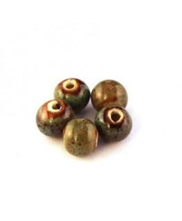 Perle céramique 8mm vert