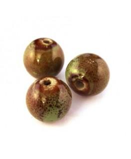 Perle en céramique vert 15mm