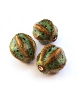 Perle lampion céramique vert