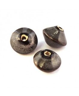 Perle en céramique soucoupe