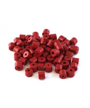 Perles en céramique rouge