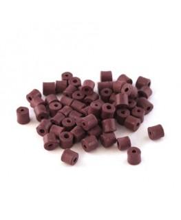 Perles en céramique prune