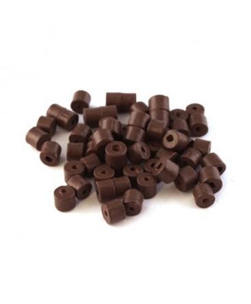 Perles en céramique chocolat