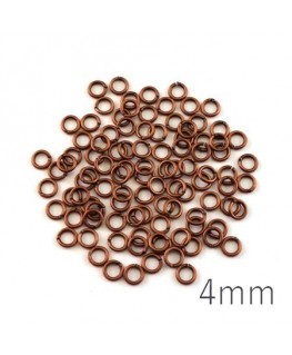 anneaux brisés 4mm cuivre