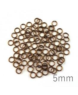 anneaux 5mm bronze