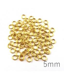 anneaux 5mm dorés