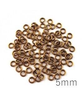 anneaux 5mm épais bronze