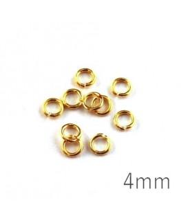 anneaux 4mm dorés