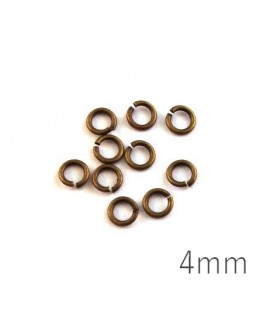 anneaux 4mm bronze
