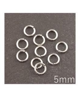 anneaux 5mm fins argentés