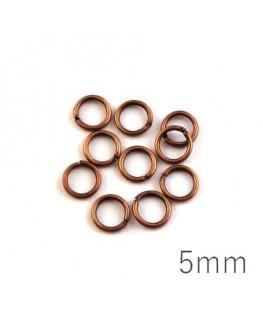 anneaux brisés 5mm cuivre