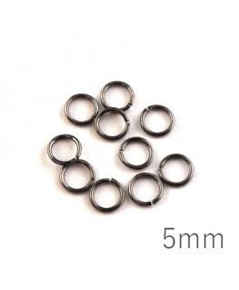 anneaux brisés 5mm gunmetal