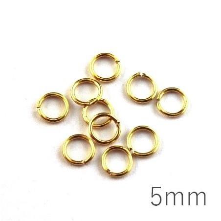 anneaux brisés 5mm dorés