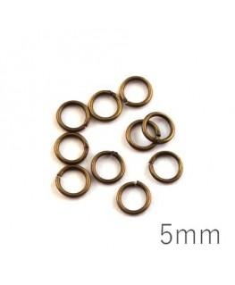 anneaux brisés 5mm bronze