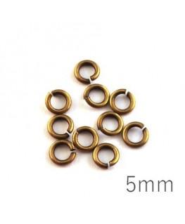 anneaux épais 5mm bronze