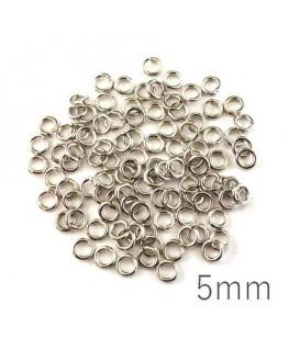 anneaux 5mm épais vieil argent