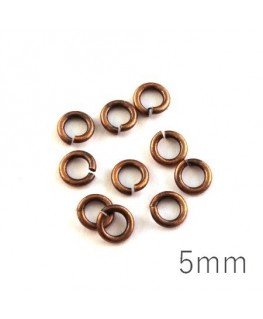 anneaux 5mm épais cuivre