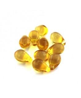 perles gouttes miel doré