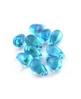 perles gouttes d'eau turquoise AB