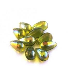 perles gouttes d'eau olivine