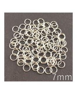 anneaux brisés 7mm argentés