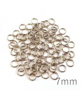 anneaux brisés 7mm vieil argent