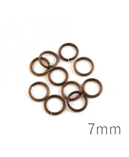 anneaux brisés 7mm bronze
