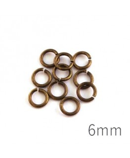 anneaux brisés 6mm bronze
