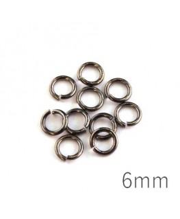 anneaux brisés 6mm gunmetal