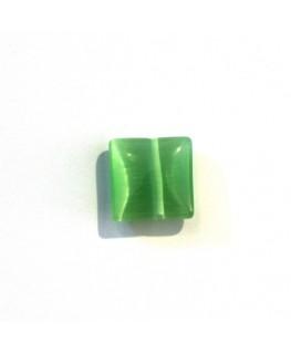 Carré œil de chat 10mm chrysolite x5