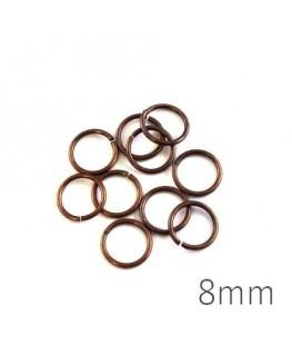 anneaux brisés 8mm bronze