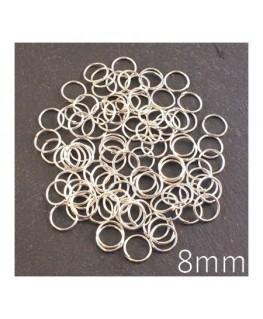 anneaux brisés 8mm argentés