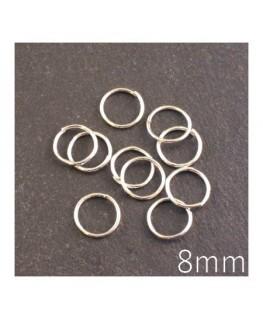 anneaux brisés 8mm argent