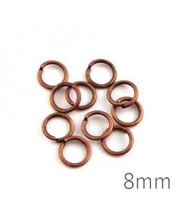 anneaux brisés 8mm cuivre