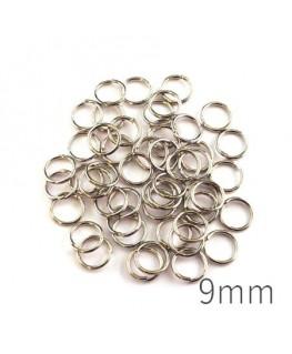 anneaux brisés 9mm vieil argent