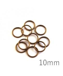 anneaux brisés 10mm bronze