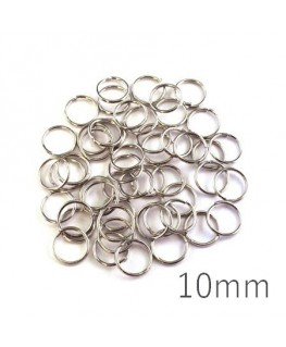 anneaux brisés 10mm vieil argent